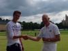 Harry Dodge presents John Phillips with the Bath Aqua Trophy